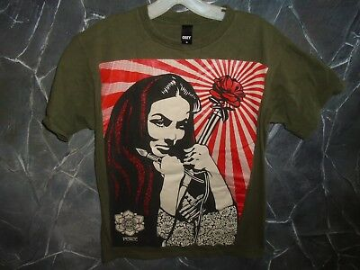 OBEY REVOLUTIONARY PEACE ARTIST X-LARGE GREEN T-SHIRT Labeled M