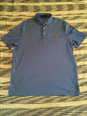 NEW Polo Ralph Lauren Pima Soft Touch Polo Mens XL Extra Large Blue NWT