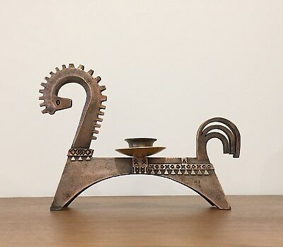 Rare Mid Century Large Horse Candle Holder, 1960s