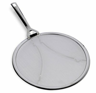 """Culina Premium 13"""" Stainless Steel Splatter Screen with Hinged Folding Handle"""
