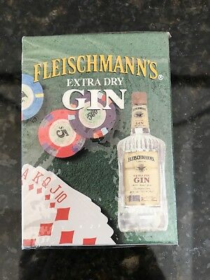 Fleischmann's Extra Dry Gin Playing Cards New Sealed In Package