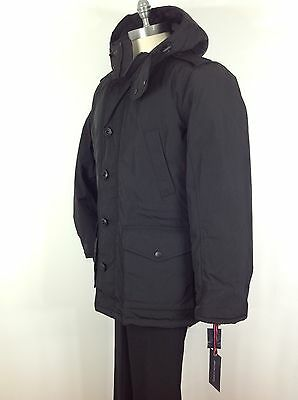 TOMMY HILFIGER NWT BLACK  Men's Warm Great Jacket Quilted Lining size S