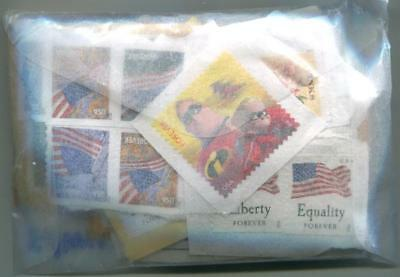 USA-100. $100+ Face Value USA UNCANCELLED USED STAMPS FOR YOUR COLLECTION.