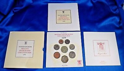 1986 United Kingdom Brilliant Uncirculated Coin Collection Royal Mint