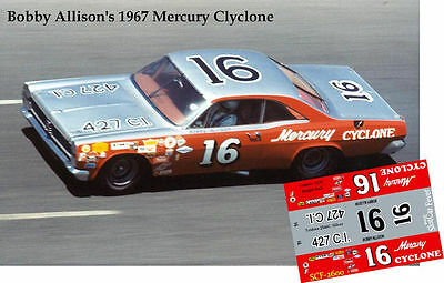 CD_2600 #16 Bobby Allison  Bud Moores '67 Ford Fairlane  1:25 scale decals