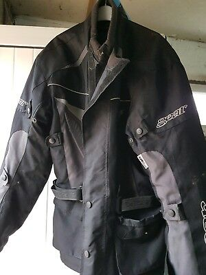Gear Motorcycle Jacket Bikers tourer style  CE Armour