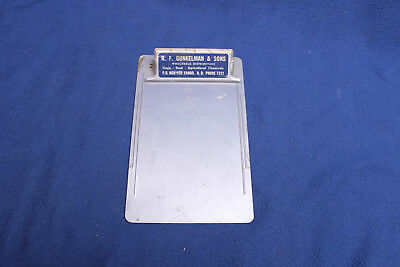Vintage Advertising Clipboard Gunkelman & Sons Fargo ND 4 digit phone