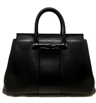 Gucci 'Lady Bamboo' Black Leather Top Handle Bag, $2850