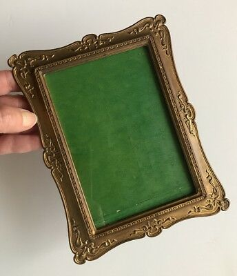 Pat. 1901 Antique Metal Ornate Victorian style Photo Frame w/Kick Stand-Very Old