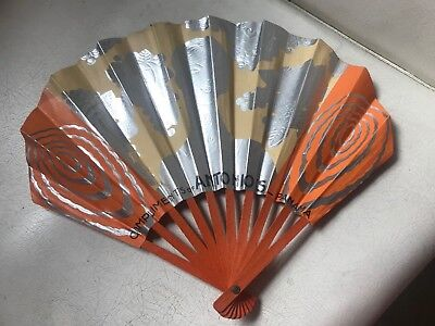 Vintage French Paper Advertising Hand Fan Store Sign Display Art Deco