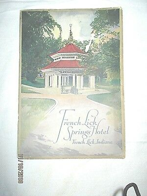 Vintage Booklet  French Lick Springs Hotel Indiana Famous Pluto Water