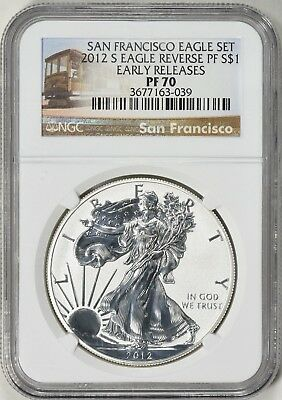 2012-S Early Releases SF 75th Anniversary Silver Eagle Reverse Proof NGC PF70