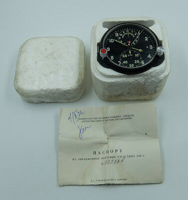 NEW! AChS-1 Russian Soviet USSR Military AirForce Aircraft Cockpit Clock #52913