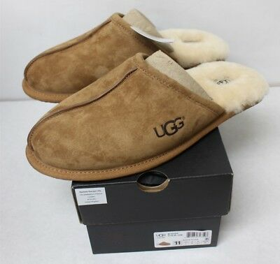 UGG Mens Scuff Chestnut Slippers 5776 Size 11 New Free Shipping