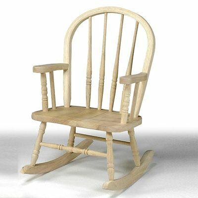 International Concepts Windsor Childrens Rocking Chair   Unfinished