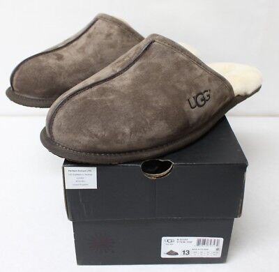 UGG Mens Scuff Espresso Slippers 5776 Size 13 New Free Shipping