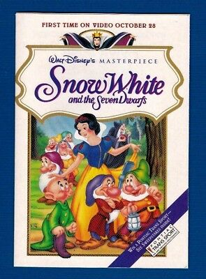 Walt Disney's Snow White And The Seven Dwarfs Video Promo Booklet