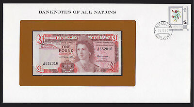 Gibralter 1975 1 Pound Pick 20a CU UNC Banknotes of all Nations Currency Note
