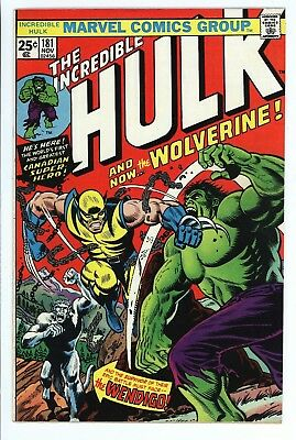 Incredible Hulk # 181  -1St Full App Of The Wolverine-High Grade-