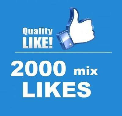 2000 Echte ★ FacebookLikes ★ High quality Service