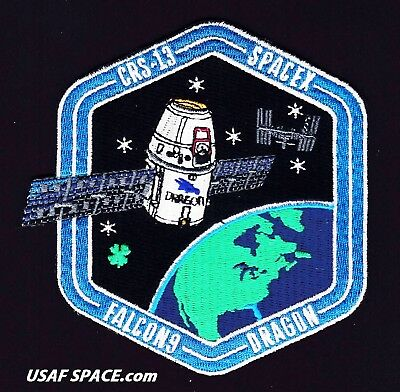 CRS-13 - SPACEX ORIGINAL FALCON-9 DRAGON F-9 ISS NASA RESUPPLY Mission PATCH