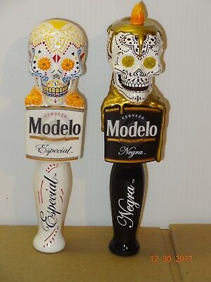 Pair of Modelo Skull Tap Handles New