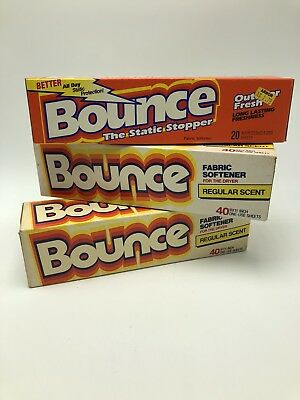 Vintage Bounce Fabric Softener Dryer Sheets Lot Box Prop Display 40 20 70s 80s