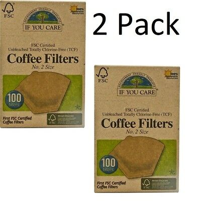 If You Care Coffee Filters No. 2 Cone Brown, 100 Filters, Recyclable, 2 PACK