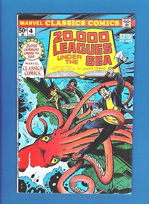Marvel Classics Comics #4 (1976) Fn/vf 20,000 Leagues Under The Sea