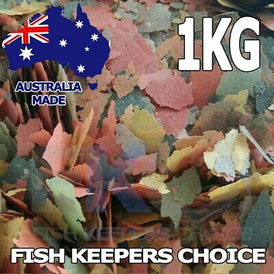 Fish Keepers Choice Tropical, Cichlid Flake Aquarium & Pond Food Feed Flakes 1KG