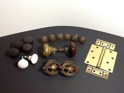 Junk Drawer Lot of Vintage Hardware - Knobs, Pulls, & Hinges