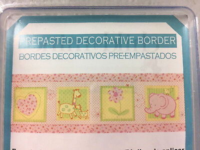 Carters Child of Mine Decorative Wall Border Girls Pink Yellow 5 Yards
