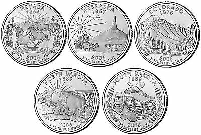 2006 US State Quarters Five Uncirculated Straight from mint US Mint