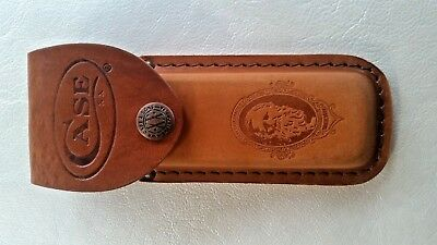"Case Xx Usa, Large Job Case 5 1/2"" Brown Genuine Leather Belt Sheath, 9027, New"