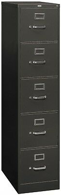 HON 26 and rdquo; 310 Series 5-Drawer Letter File Cabinet, Charcoal