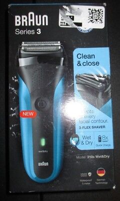 NEW Braun Series 3 310s Men's Electric Foil Shaver Rechargeable Electric Razor