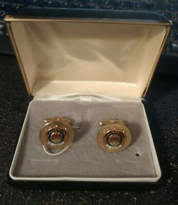 1950's Oldsmobile Factory Employee 15 Year Service Awarded Cuff Links - Lansing