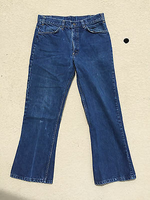 Vintage Levi's 646 Orange Tab Usa Jeans Bell Bottom Flares 32 X 27 Actual Size