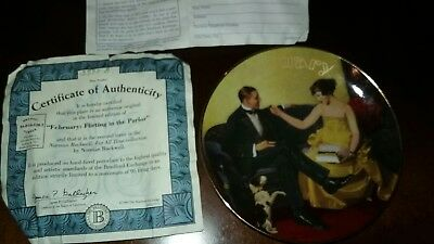 Norman Rockwell February Plate For All Time