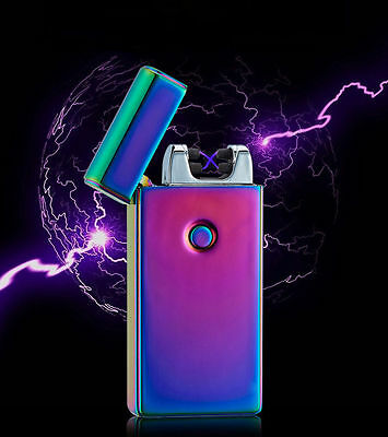 Rechargeable Lighter Dual Arc Flameless USB Cigarette Windproof Lighter WH