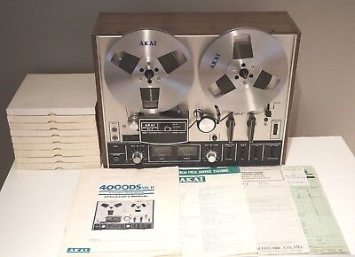 Akai 4000DS MK-II Reel-to-Reel Stereo Tape Deck with 10 tapes & FREE SHIPPING