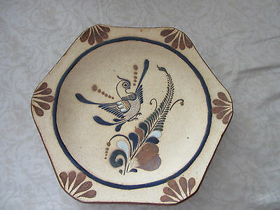 """Mexico amazing handcrafted&painted 10&12"""" serving or wall hanging Plate"""