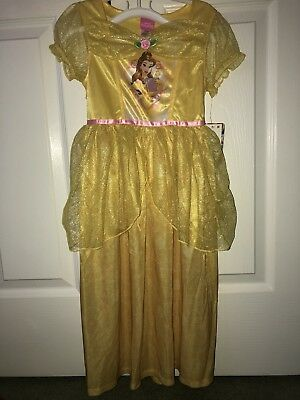 Disney Princess Belle Dress-Up Nightgown - Girl Size Small (6/6x) New With Tags
