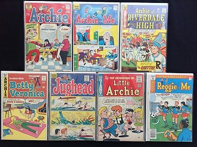 ARCHIE Variety Lot of 7 Comic Books - & Me, Riverdale High, Betty & Veronica, +!