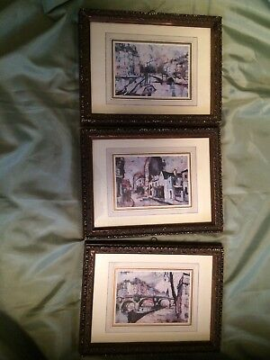 Vintage Turner Wall Accessory French Scenes Lot of 3 Very nice!