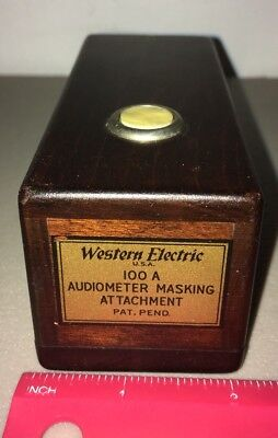 ANTIQUE WESTERN ELECTRIC MODEL 100 A AUDIOMETER MASKING Attachment