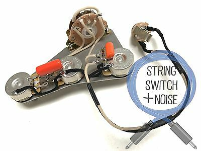 (Fender) Stratocaster Wiring Harness, Treble Bleed, No Load Tone, Upgrade