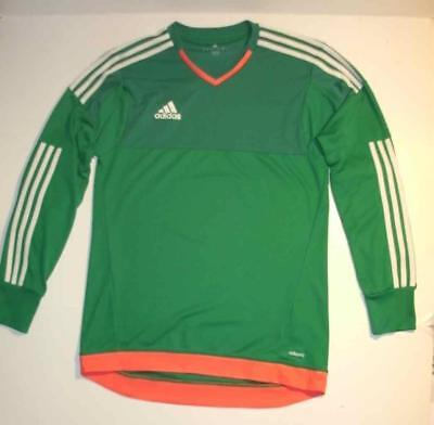 264feef05a1d Adidas Adizero Green Soccer Goalie Jersey Mens Small Climacool Padded  Inserts