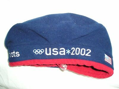 ROOTS USA 2002 OLYMPIC OLYMPICS TEAM BERET Blue FLEECE One Size