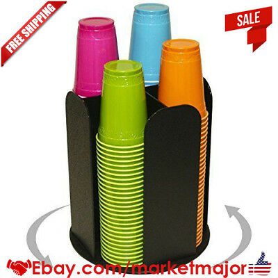 4 Columns For Cup Dispensing And Lid Holder That Spins. Holds Upto 4 1/4 Coffee